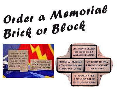 25th Memorial Fund Brick or Block